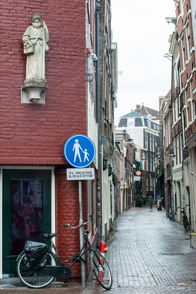 Streets of Amsterdam, the Netherlands, Europe.