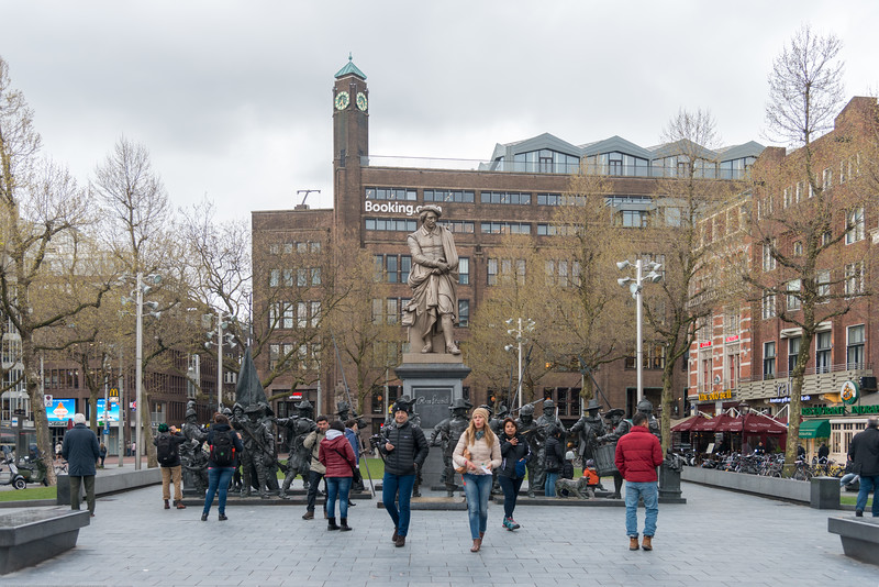 Rembrandtplein (Rembrandt Square) is a major square in central Amsterdam, the Netherlands, named after the famous painter Rembrandt van Rijn who owned a house nearby from 1639 to 1656.