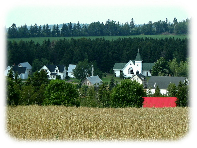 Quaint village countryside, PEI