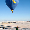Watching the hot air balloons take off from White Sands. Ballooning in New Mexico is a pretty serious hobby.
