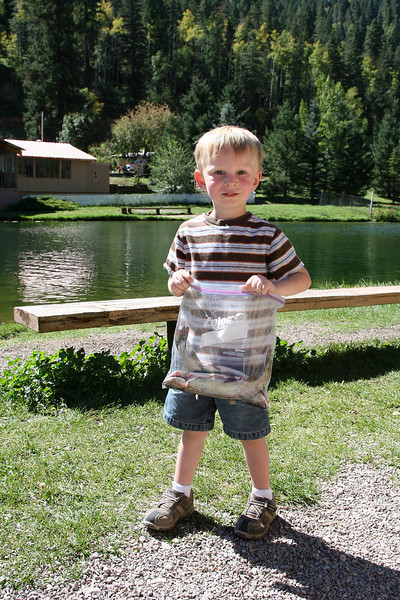 Kyle with his catch.