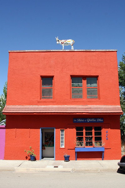 Some crazy little town in southern New Mexico in the middle of the desert. All the buildings around Main Street had donkeys in front, on top or inside them. No, they're not real.