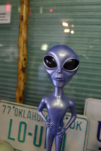 Stopped by the UFO Visitor Center in Roswell, New Mexico.