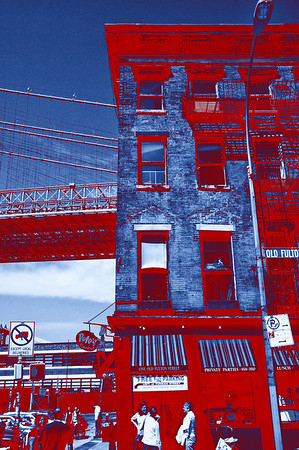 Under the Brooklyn Bridge - Red