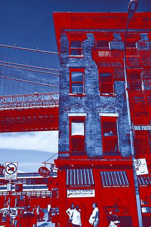 Under the Brooklyn Bridge - Red
