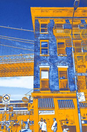 Under the Brooklyn Bridge - Orange