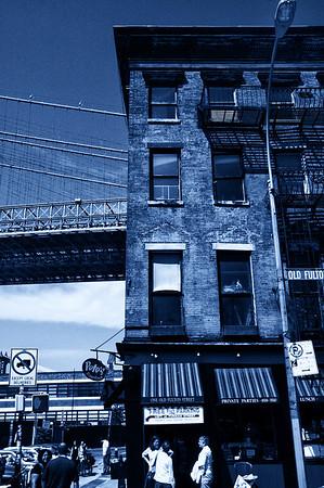 Under the Brooklyn Bridge - Blue