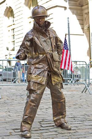 Street artist, Wall Street