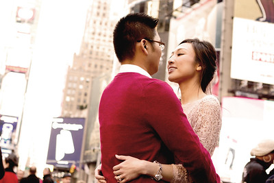 Finding love in Time Square