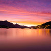 New Zealand - Sunset over Lake Wakatipu