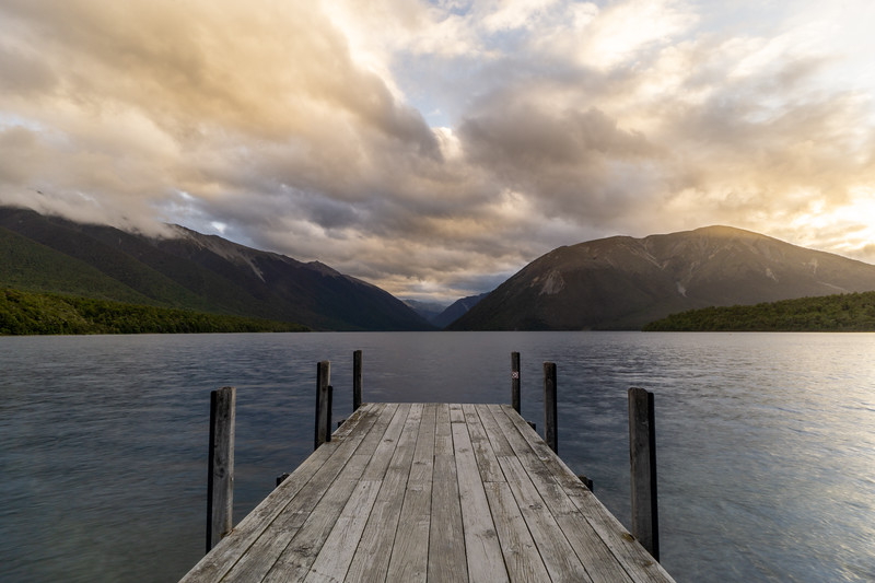 Sunset over Lake Rotoiti