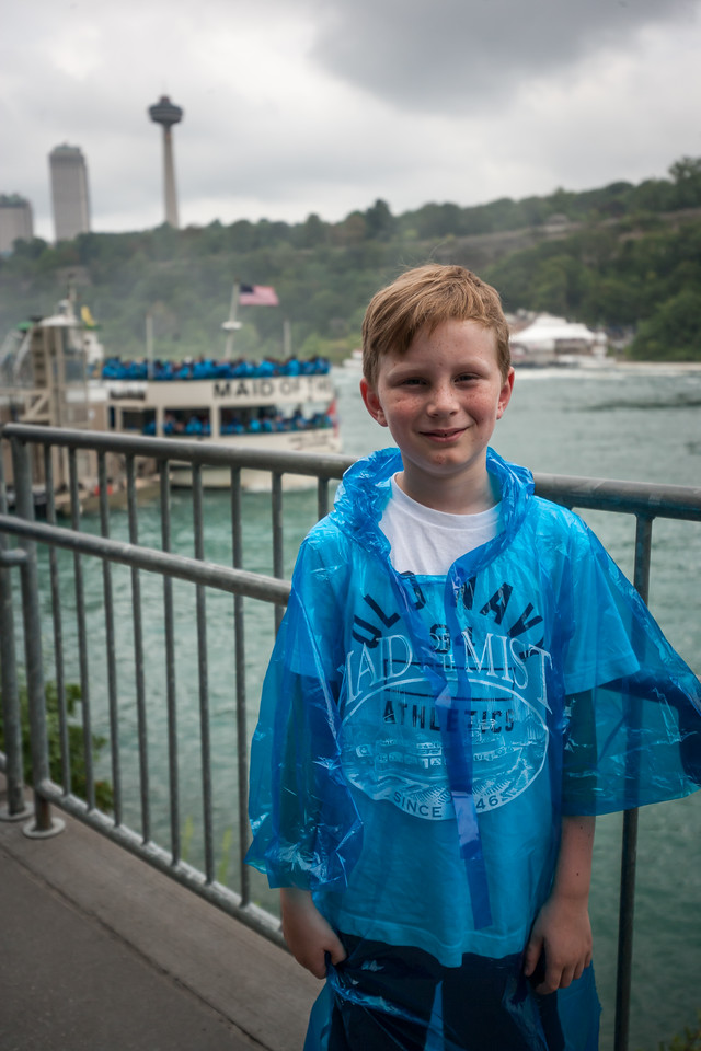 Kyle before boarding our ride into the falls. August 2015, Digital.