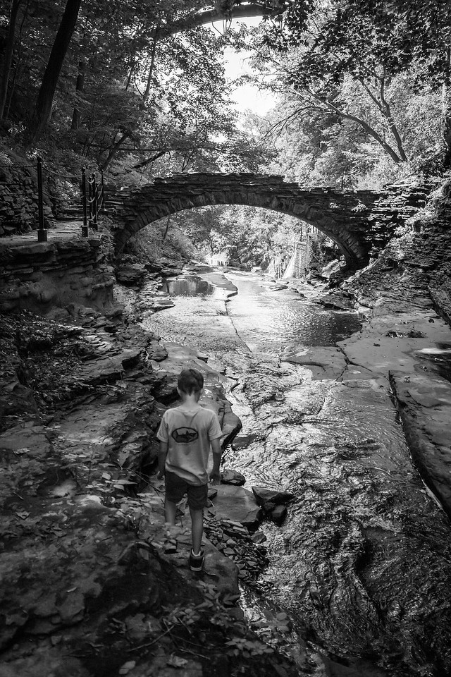 Exploring Cascadilla Gorge Trail in Ithaca, NY. August 2015, Digital.