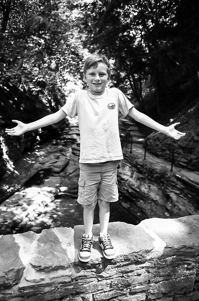 Robert Treman State Park, Ithaca, NY. <br />  Aug 2015, Tri-X and HP5 B&W film.