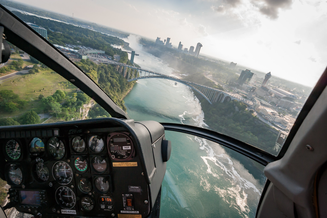 Banking  upriver to see the falls from above. August 2015, Digital.