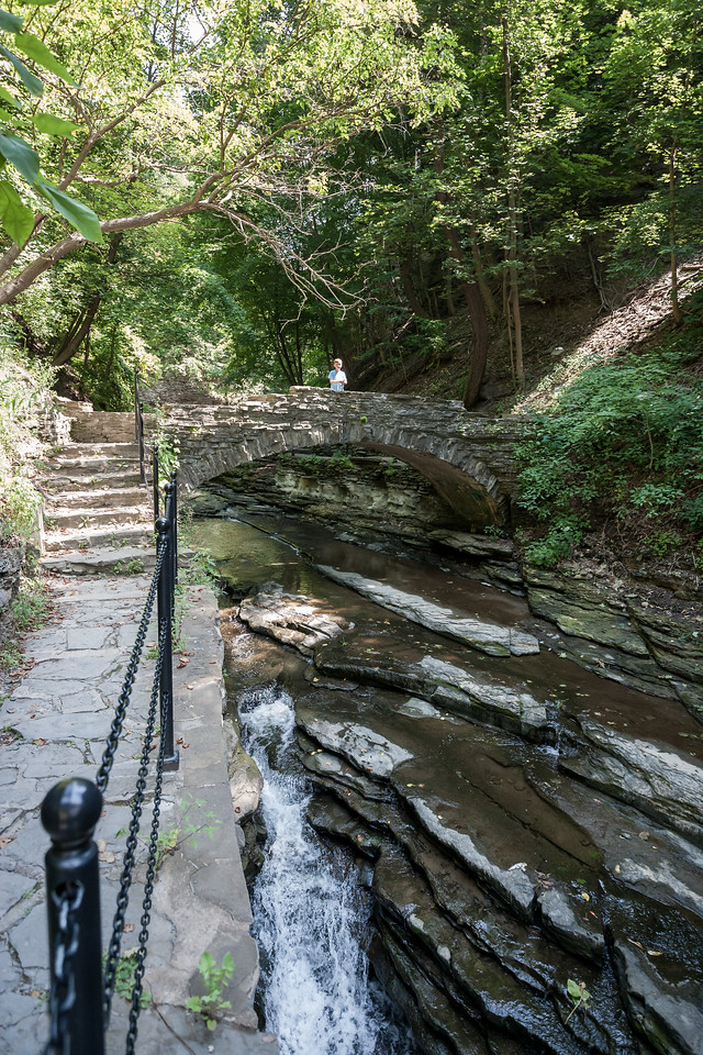 A section of the Cascadilla Gorge Trail (Ithaca, NY). August 2015, Digital.
