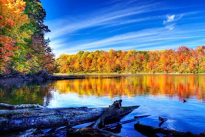 Fall at Eagle Creek Reservoir