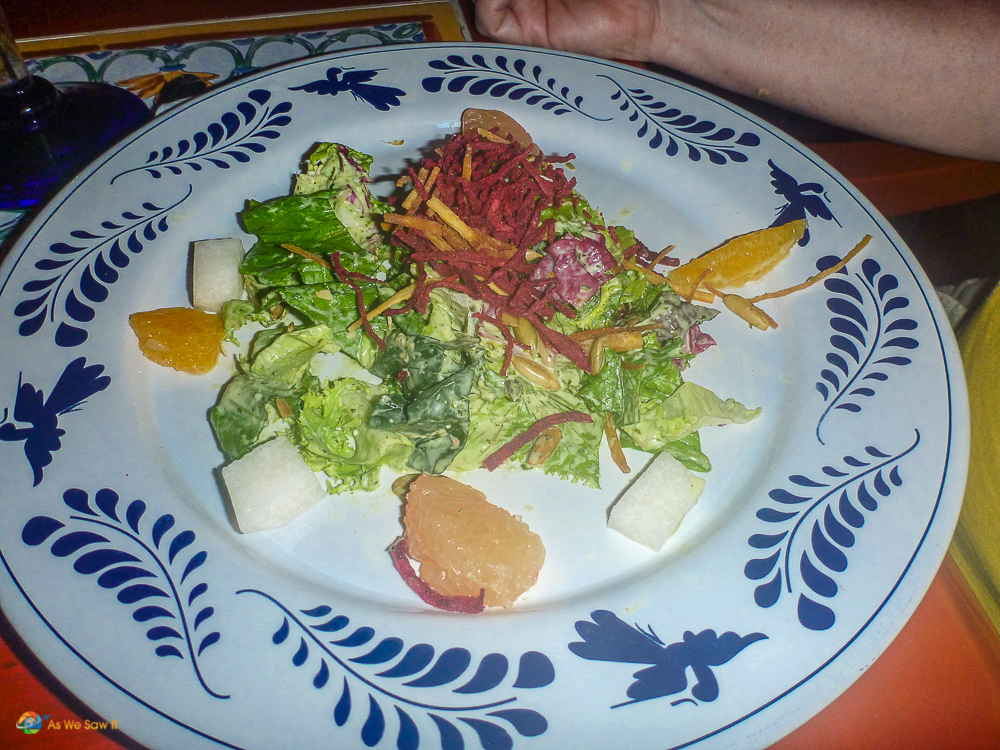 Salad in Cancun, Mexico