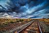 Train tracks on the high plains