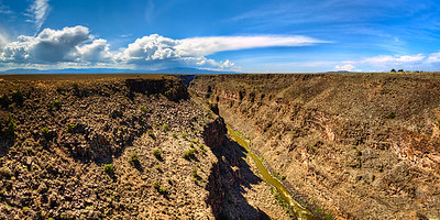 The Rio Grande Gorge South of Taos New Mexico.