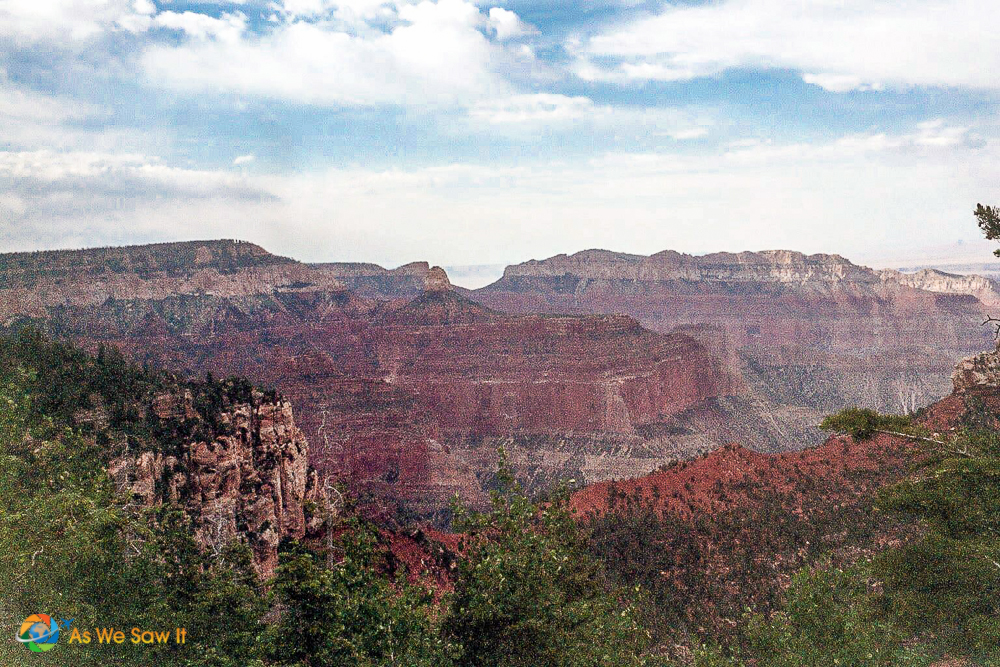 View of Grand Canyon from North Rim