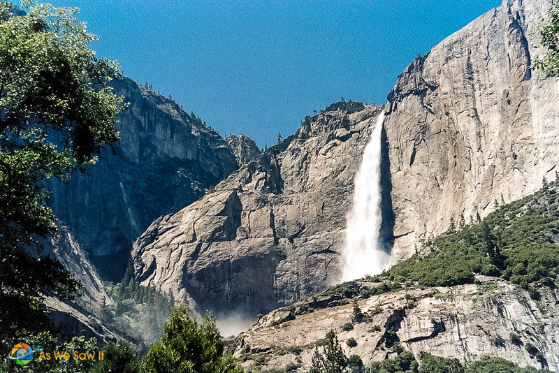 section of Bridal Veil Falls at Yosemite National Park