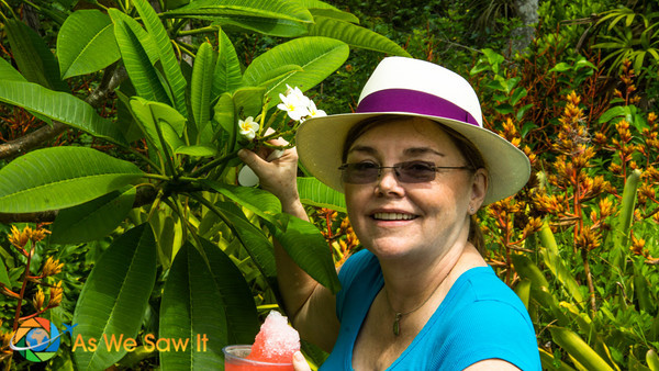 Nana gets a wonderful surprise, the fragrant Frangipani tree that she love in Bali, Indonesia