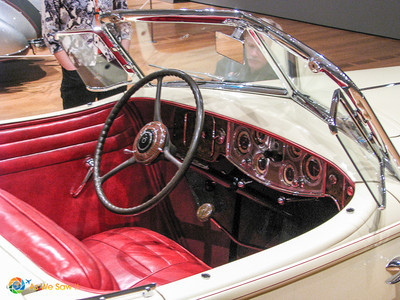 Interior of 1934 Packard Twelve Runabout Speedster, formerly owned by Clark Gable