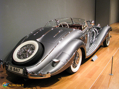 Rear view of 1937 Mercedes-Benz 540 K Special Roadster