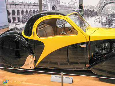 1937 Bugatti Type 57S Atalante Coupe side view