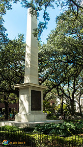 Obelisk in Savannah's Johnson Square