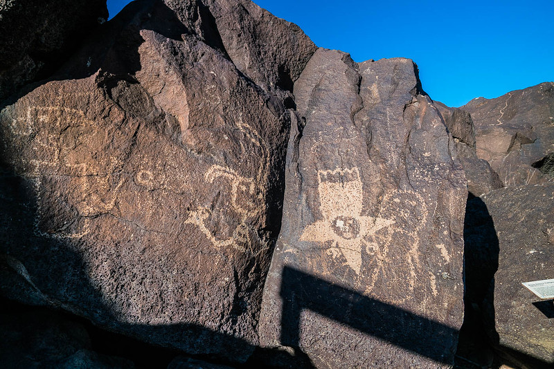 strange spaceship looking petroglyph and petroglyphs national monument