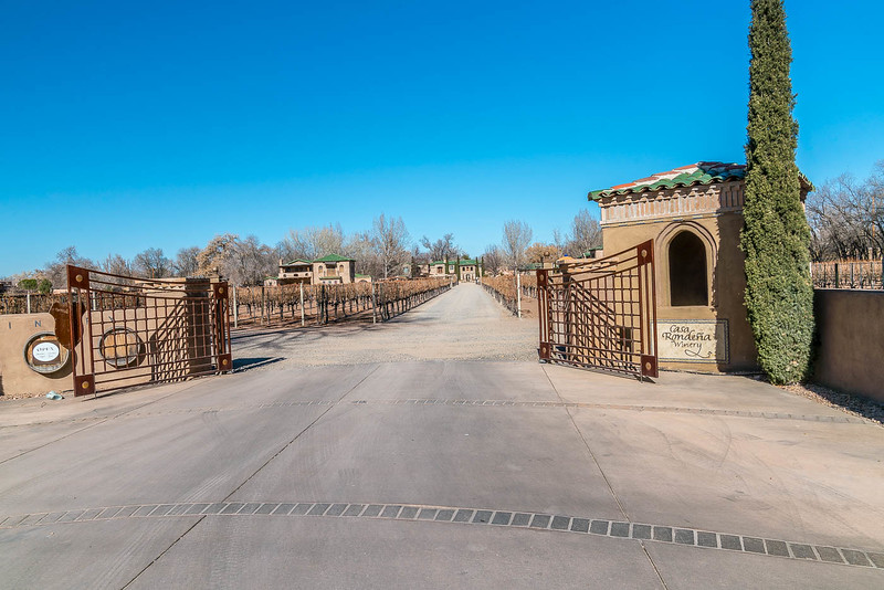 entry gate into casa rondena winery