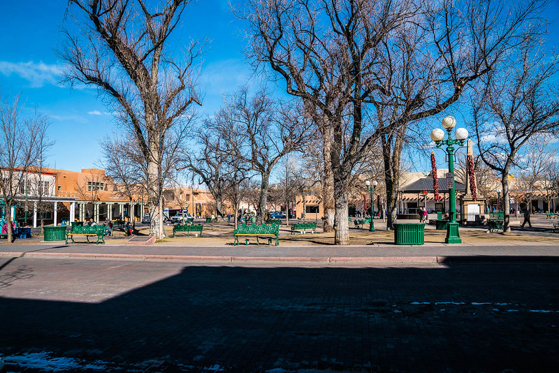 Santa Fe Plaza, the center of New Mexico's capital city