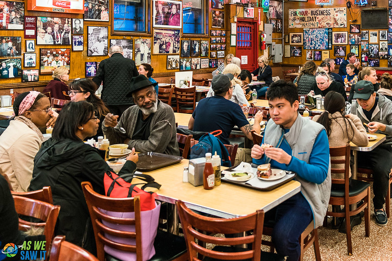 Diners at Katz's Delicatessen in New York City