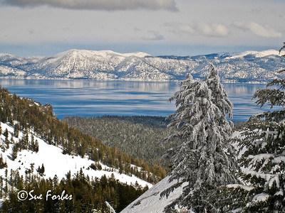 Snowy Lake Tahoe Snowy mountains around Lake Tahoe from Alpine Meadows, California