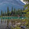 Cabins along Lake O'Hara, Canada
