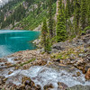 Stream along the shore, Lake O'Hara, Canada