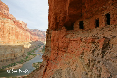 Nankoweap Granaries AD 1100 puebloan granaries at Nankoweap, mile 53 or Grand Canyon Colorado River, AZ
