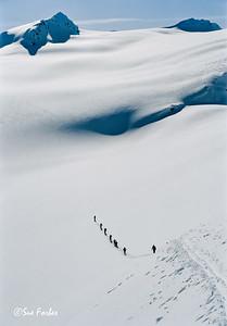 Selkirks, Canada Heading towards Mt Durand in Selkirks, Canada