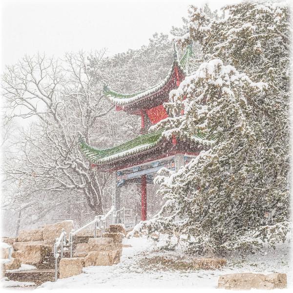 Chinese pavilion in winter (Lake Phalen)