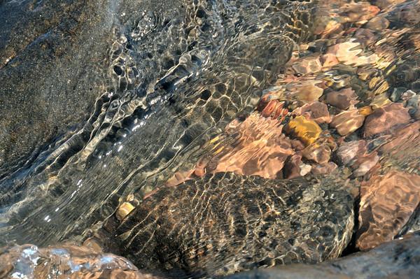 Water over rocks, Apostle Islands, Wisconsin