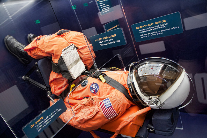 Astronaut at lift off