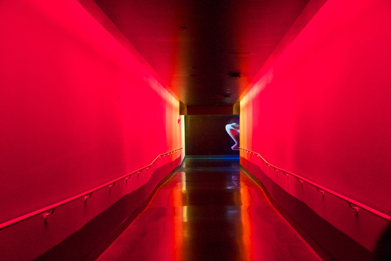 This hallway is supposed to represent the re-entry into the earth's atmosphere - looks a little hot...