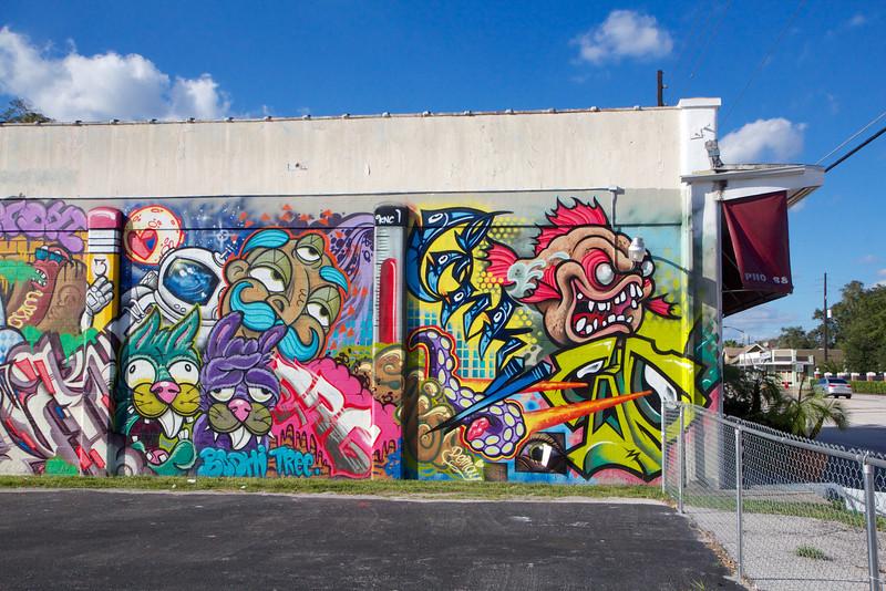 Graffiti in the MIlls 50 area