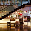 View of Filini bar and restaurant - love the lighting here!