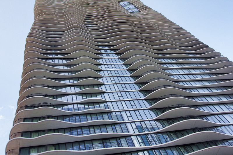 The undulating Aqua building