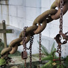 The tomb of the unknown slave - made from chains from a slave ship and slave shackels.