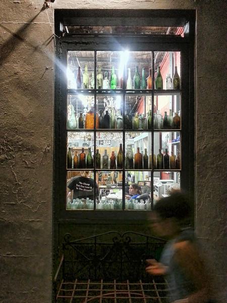Window of bottles