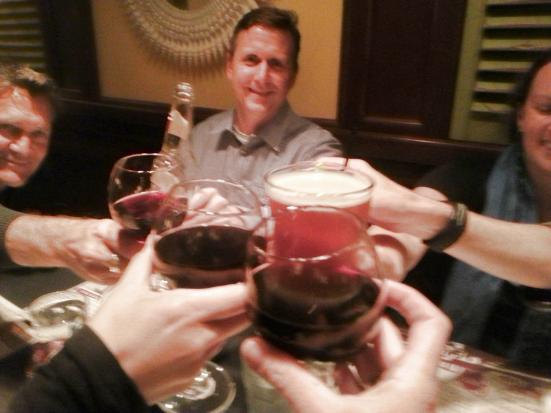 Out with old friends - cheers!